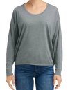 Women`s Freedom Long Sleeve Tee, Anvil 34PVL // A34PVL Heather Graphite | XS