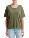 Women`s Freedom Tee (oversized), Anvil 36PVL // A36PVL Heather City Green | XS