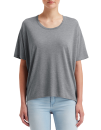 Women`s Freedom Tee (oversized), Anvil 36PVL // A36PVL Heather Graphite | XS