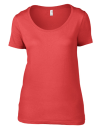 Women`s Featherweight Scoop Tee, Anvil 391 // A391 Coral | XS