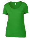 Women`s Featherweight Scoop Tee, Anvil 391 // A391 Green Apple | XS