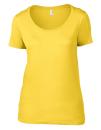 Women`s Featherweight Scoop Tee, Anvil 391 // A391 Lemon Zest | XS