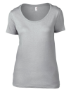 Women`s Featherweight Scoop Tee, Anvil 391 // A391 Silver (Solid) | XS