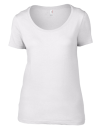 Women`s Featherweight Scoop Tee, Anvil 391 // A391 White | XS