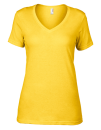Women`s Featherweight V-Neck Tee, Anvil 392 // A392 Lemon Zest | XS