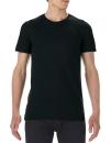 Lightweight Long & Lean Tee, Anvil 5624 // A5624 Black | S