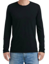 Adult Tri-Blend Long Sleeve Tee, Anvil 6740 // A6740 Black   S