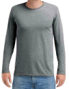 Adult Tri-Blend Long Sleeve Tee, Anvil 6740 // A6740 Heather Graphite   S