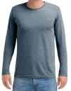 Adult Tri-Blend Long Sleeve Tee, Anvil 6740 // A6740 Heather Navy   S