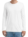 Adult Tri-Blend Long Sleeve Tee, Anvil 6740 // A6740 White   S