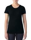 Women`s Tri-Blend Tee, Anvil 6750L // A6750L Black | XS