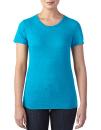 Women`s Tri-Blend Tee, Anvil 6750L // A6750L Heather Blue | XS
