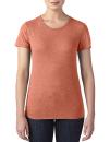 Women`s Tri-Blend Tee, Anvil 6750L // A6750L Heather Bronze | XS