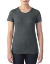 Women`s Tri-Blend Tee, Anvil 6750L // A6750L Heather Dark Green | XS