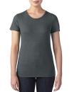 Women`s Tri-Blend Tee, Anvil 6750L // A6750L Heather Dark Grey | XS