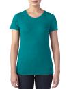 Women`s Tri-Blend Tee, Anvil 6750L // A6750L Heather Galapagos Blue | XS