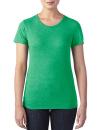 Women`s Tri-Blend Tee, Anvil 6750L // A6750L Heather Green | XS