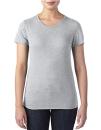 Women`s Tri-Blend Tee, Anvil 6750L // A6750L Heather Grey | XS