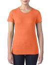 Women`s Tri-Blend Tee, Anvil 6750L // A6750L Heather Orange | XS