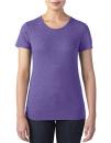 Women`s Tri-Blend Tee, Anvil 6750L // A6750L Heather Purple | XS