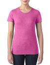 Women`s Tri-Blend Tee, Anvil 6750L // A6750L Heather Raspberry | XS