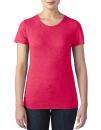 Women`s Tri-Blend Tee, Anvil 6750L // A6750L Heather Red | XS