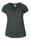 Women`s Tri-Blend V-Neck Tee, Anvil 6750VL // A6750VL Heather Dark Grey | XS