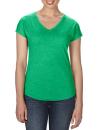 Women`s Tri-Blend V-Neck Tee, Anvil 6750VL // A6750VL Heather Green | XS