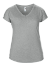 Women`s Tri-Blend V-Neck Tee, Anvil 6750VL // A6750VL Heather Grey | XS