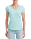 Women`s Tri-Blend V-Neck Tee, Anvil 6750VL // A6750VL Teal Ice | XS