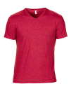 Tri-Blend V-Neck Tee, Anvil 6752 // A6752 Heather Red | XS