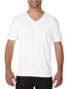 Tri-Blend V-Neck Tee, Anvil 6752 // A6752 White | XS