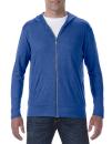 Tri-Blend Full-Zip Hooded Jacket, Anvil 6759 // A6759 Heather Blue   S