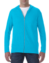 Tri-Blend Full-Zip Hooded Jacket, Anvil 6759 // A6759 Heather Caribbean Blue   S
