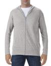 Tri-Blend Full-Zip Hooded Jacket, Anvil 6759 // A6759 Heather Grey   S
