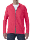 Tri-Blend Full-Zip Hooded Jacket, Anvil 6759 // A6759 Heather Red   S