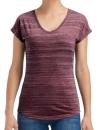 Women`s Tri-Blend V-Neck ID Tee, Anvil 675VIDL // A675VIDL ID Maroon | XS