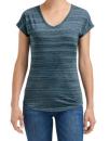 Women`s Tri-Blend V-Neck ID Tee, Anvil 675VIDL // A675VIDL ID Orion | XS