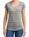 Women`s Tri-Blend V-Neck ID Tee, Anvil 675VIDL // A675VIDL ID Silver | XS