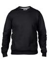 Crew Neck Sweatshirt, Anvil 71000 // A71000 Black   S