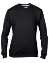 Women`s Crew Neck Sweatshirt, Anvil 71000FL // A71000FL Black   S