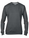 Women`s Crew Neck Sweatshirt, Anvil 71000FL // A71000FL Charcoal (Solid)   S