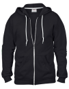 Full Zip Hooded Sweatjacket, Anvil 71600 // A71600 Black   S