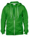 Full Zip Hooded Sweatjacket, Anvil 71600 // A71600 Green Apple   S