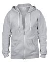 Full Zip Hooded Sweatjacket, Anvil 71600 // A71600 Heather Grey   S