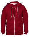 Full Zip Hooded Sweatjacket, Anvil 71600 // A71600 Independence Red   S