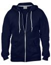 Full Zip Hooded Sweatjacket, Anvil 71600 // A71600 Navy   S
