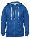 Full Zip Hooded Sweatjacket, Anvil 71600 // A71600 Royal Blue   S
