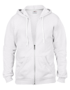 Full Zip Hooded Sweatjacket, Anvil 71600 // A71600 White   S