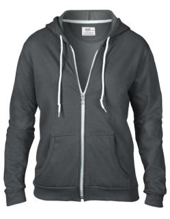 Women`s Full Zip Hooded Sweatjacket, Anvil 71600FL // A71600FL